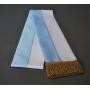 Ceinture blanc-bleu, Marian, 14 cm, glands dorés